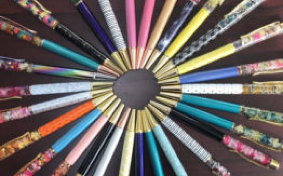 ハーバリウムボールペン作り