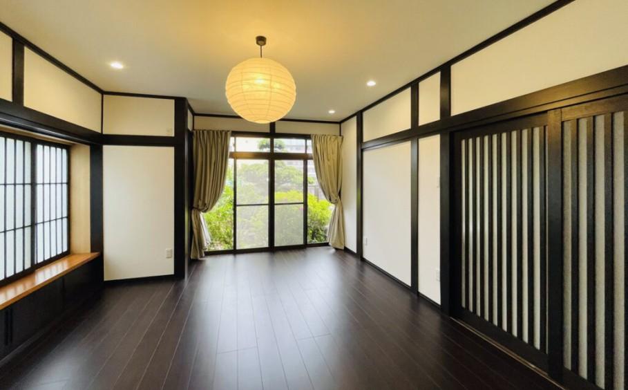 縁側つきの和室を和モダンな多目的室へ